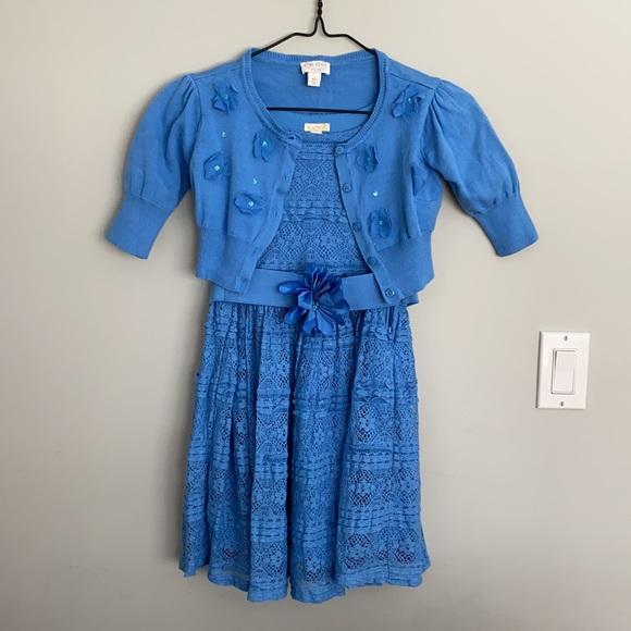 Girls Size 10 Dress and Sweater
